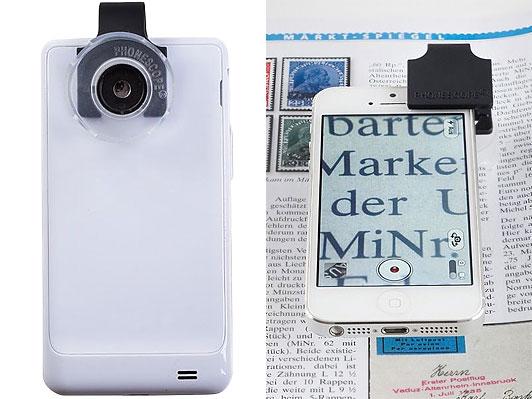Mikrolinse für Smartphone und Tablets