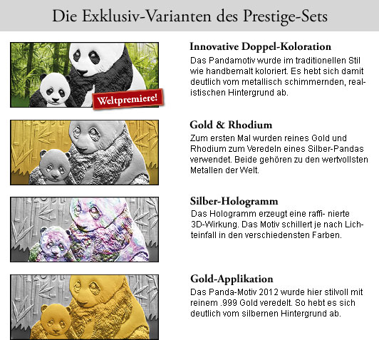 Jubil�ums-Edition 2012 � Silver Investment Prestige Set30 Jahre Panda!