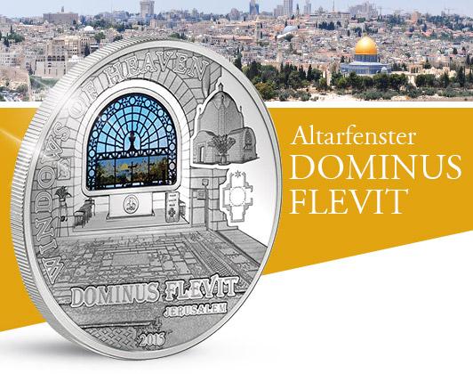 Detail Windows of Heaven Jerusalem Dominus Flevit Altarfenster