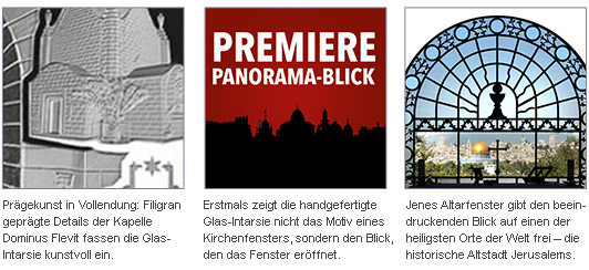 Windows of Heaven Jerusalem Dominus Flevit Altarfenster