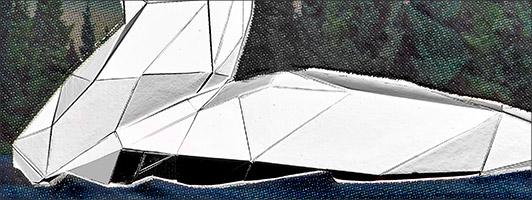 Kunstvolle Polygon-Prägung