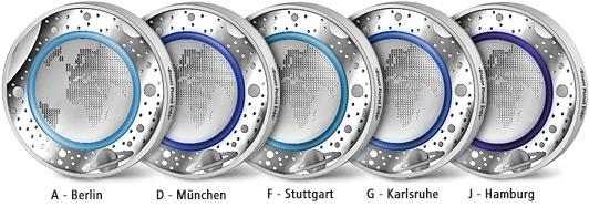 Die 5 Euro Münze Deutschland Klimazonen Der Erde