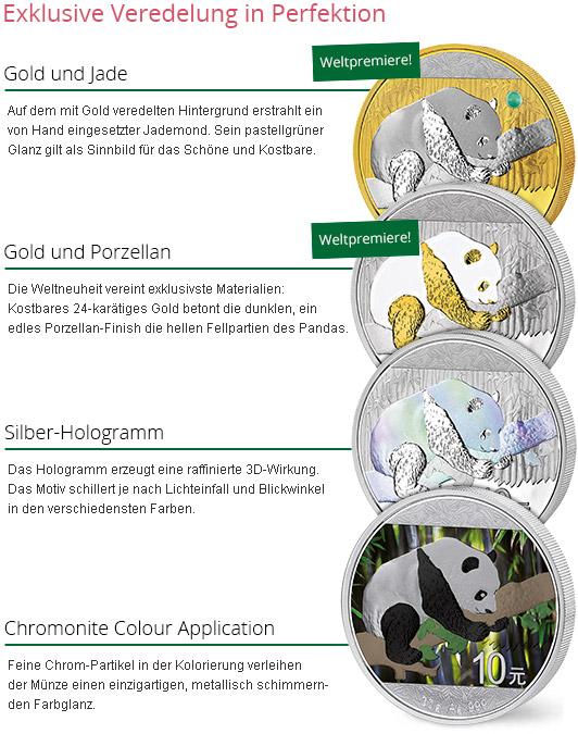 Detailabbildung Silver Investment Coin Prestige-Set Panda 2016