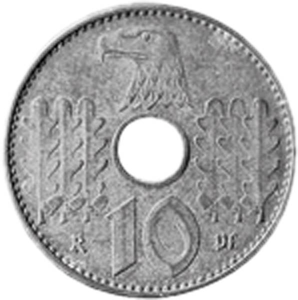 10 Pfennig Hakenkreuz Lochgeld