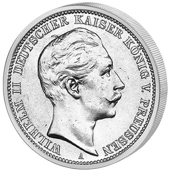 2 Mark Preußen Wilhelm II. 1888 Sehr schön