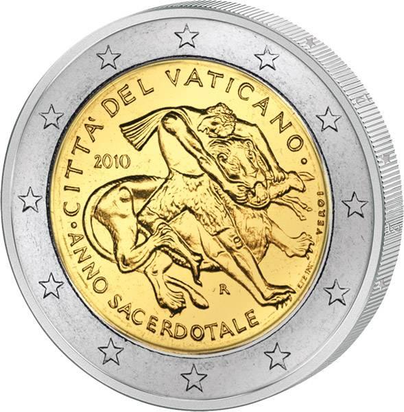 2 Euro Vatikan Priesterjahr