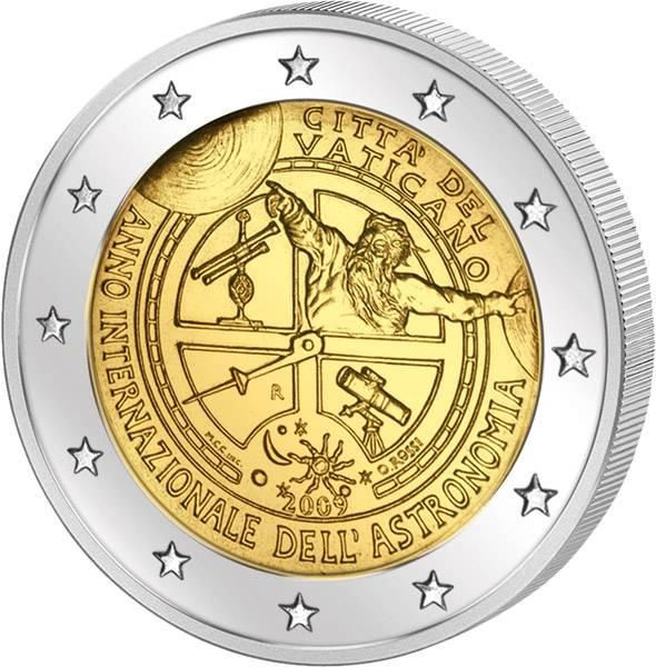 2 Euro Vatikan Jahr der Astronomie 2009 Stempelglanz