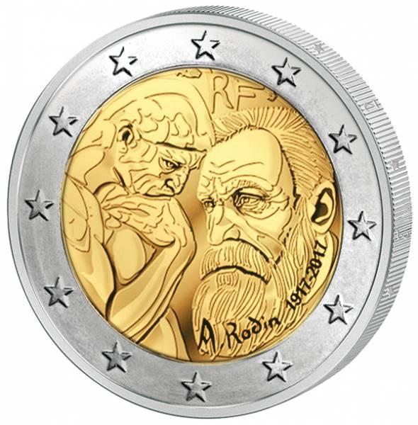 2 Euro Frankreich 100. Todestag Auguste Rodin 2017