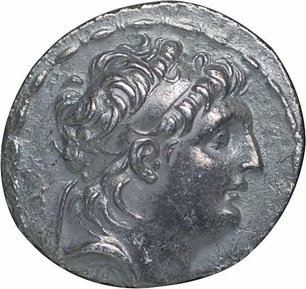 Tetradrachme Seleukidenreich Antiochos II. Theos 261-246 v.Chr. Sehr schön