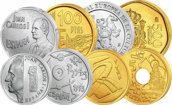 1 - 500 Pesetas Kursmünzensatz Spanien