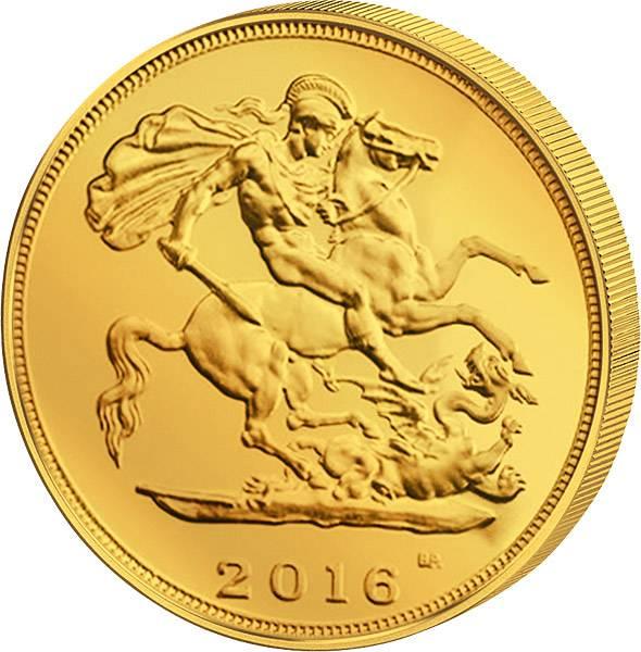 1/2 Sovereign Großbritannien Queen Elizabeth II.