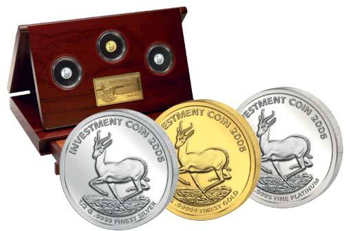 Investment Coin-Set Springbock 2006 Polierte Platte