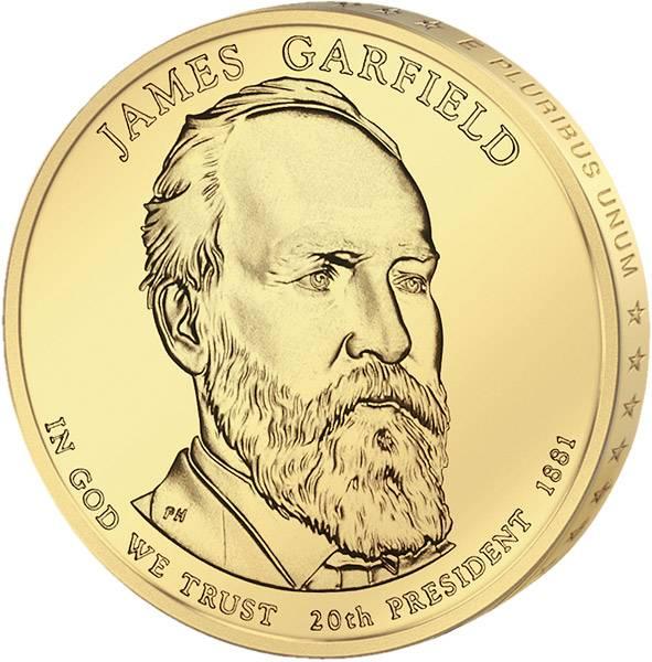 1 Dollar USA James Garfield 2011 Stempelglanz