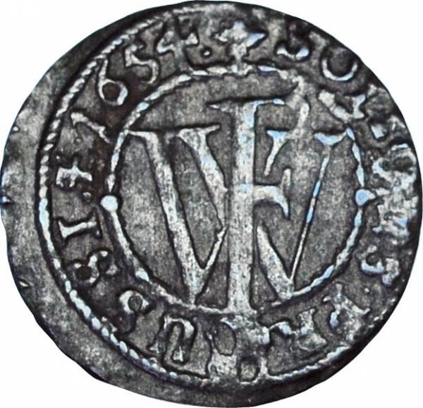 Schilling Brandenburg-Preußen Kurfürst Freidrich Wilheilm 1653 - 1655