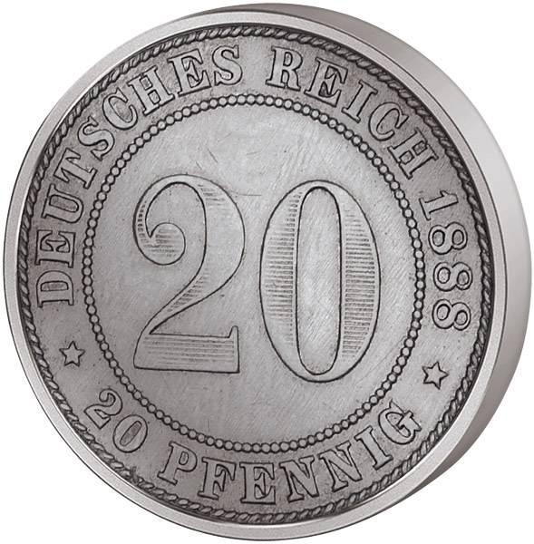 20 Pfennig kleiner Adler 1887-1888