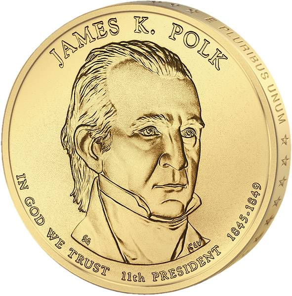 1 Dollar USA James K. Polk 2009 Stempelglanz