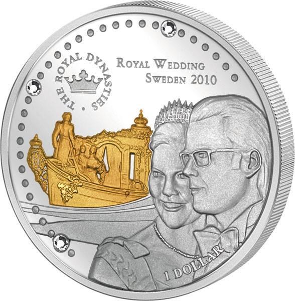 1 Dollar Nauru Prinzessin Victoria und Daniel 2011 Polierte Platte