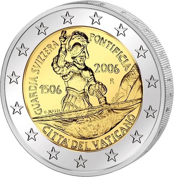 2 Euro Vatikan 500 Jahre Schweizergarde 2006 Stempelglanz