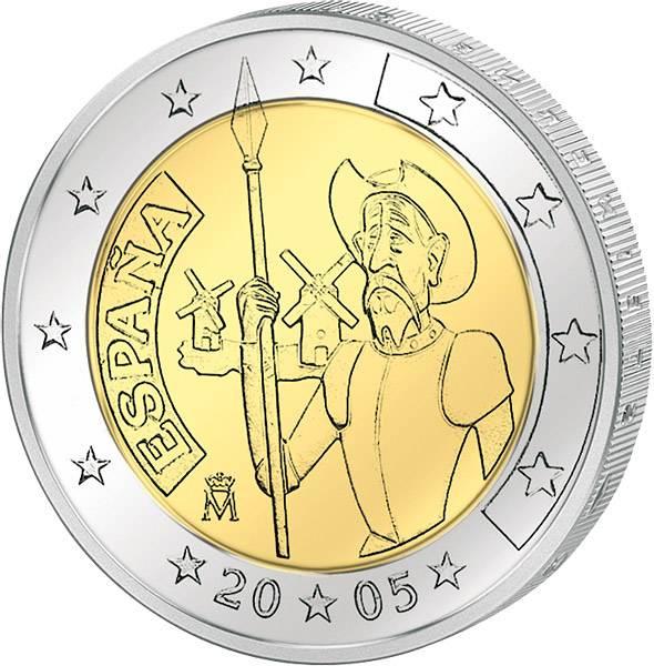 2 Euro Spanien Don Quijote 2005 Madrid prägefrisch
