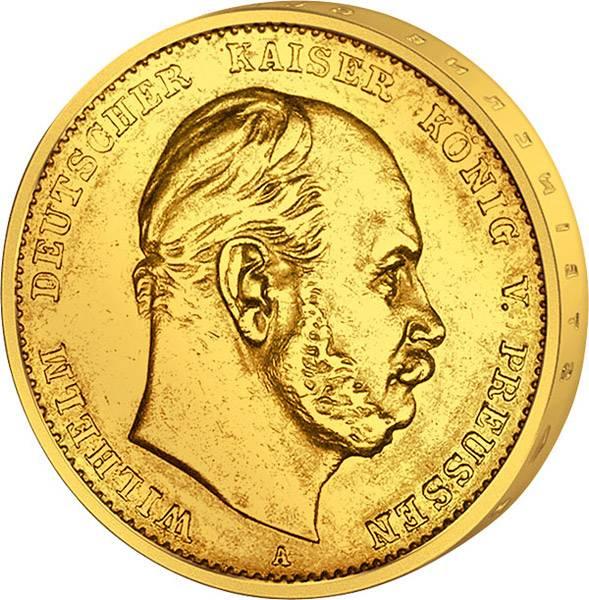 5 Mark Preußen Kaiser Wilhelm I. 1877-1878 ss-vz