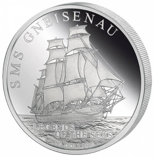 10 Dollars Salomonen SMS Gneisenau
