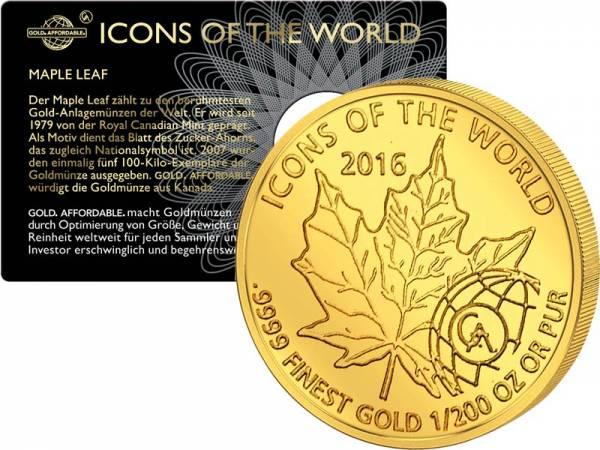 10 Francs Ruanda Maple Leaf 2016