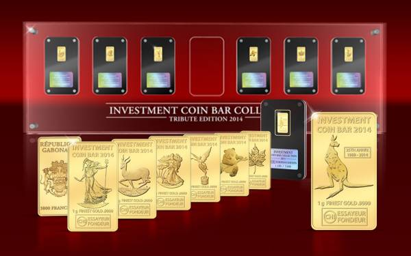 Investment Coin Bar Collection 2014 Polierte Platte