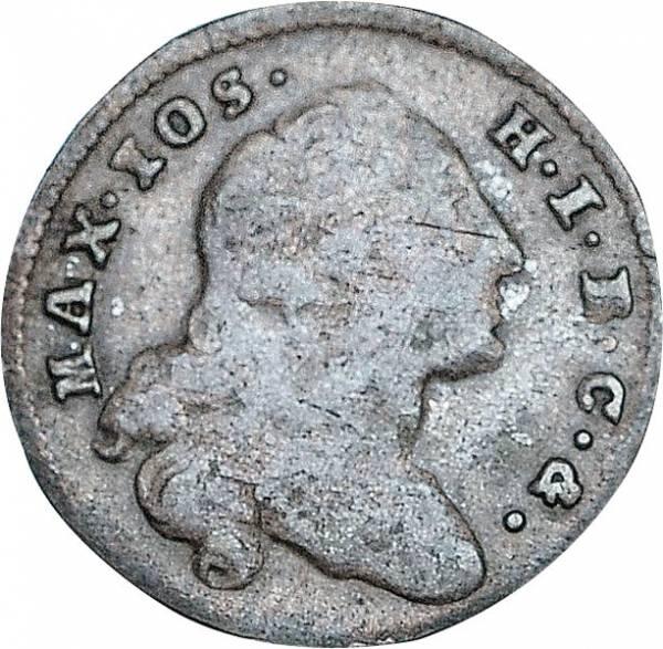 1 Kreuzer Bayern Kurfürst Maximilian III. Joseph 1745-1769