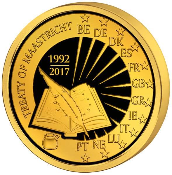 25 Euro Belgien 25 Jahre Vertrag von Maastricht 2017