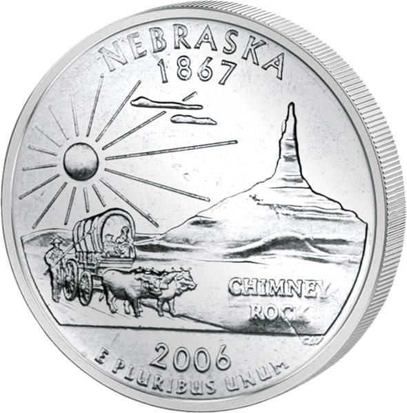 Quarter Dollar USA Nebraska 2006