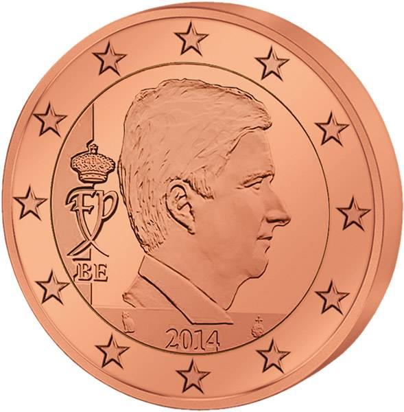 5 Cents Belgien König Philippe