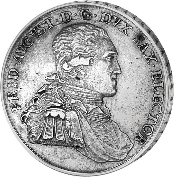 Konventionstaler Sachsen Kurfürst Friedrich August III. 1794-1806  sehr schön