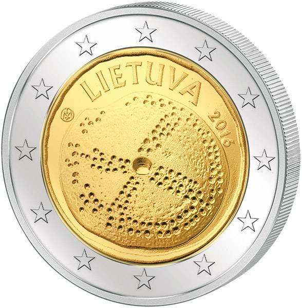 2 Euro Litauen Baltische Kultur 2016  prägefrisch