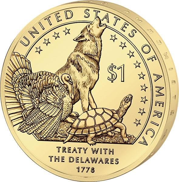1 Dollar USA Delaware-Vertrag 2013 prägefrisch