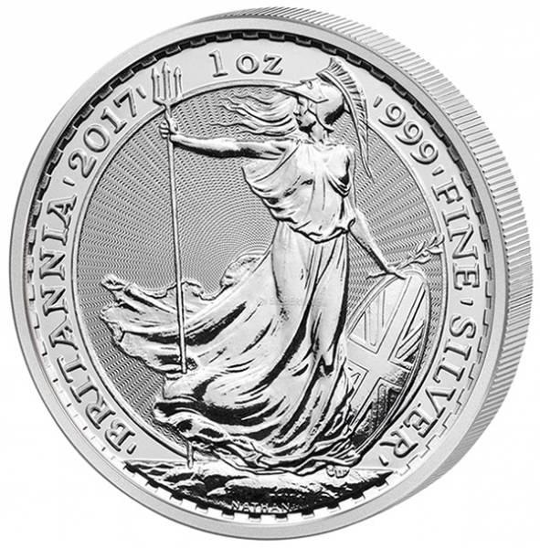 1 Unze Silber Großbritannien Britannia 2017