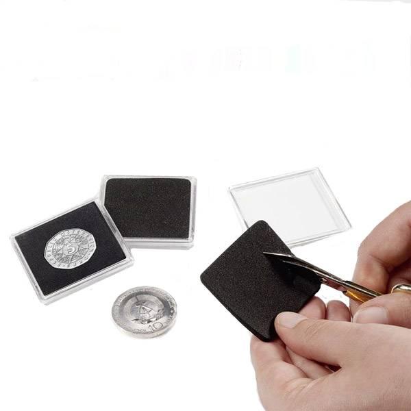 Quadrum-Münzkapseln ohne Ausstanzungen zum Selberschneiden