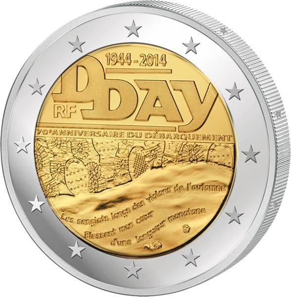 2 Euro Frankreich 70 Jahre D-Day 2014   prägefrisch