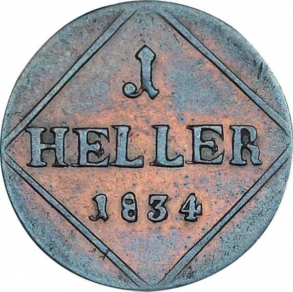 1 Heller Bayern König Ludwig I. 1828 - 1835