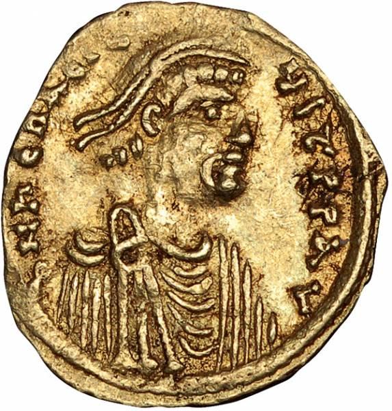 Tremissis Byzanz Kaiser Herakleios