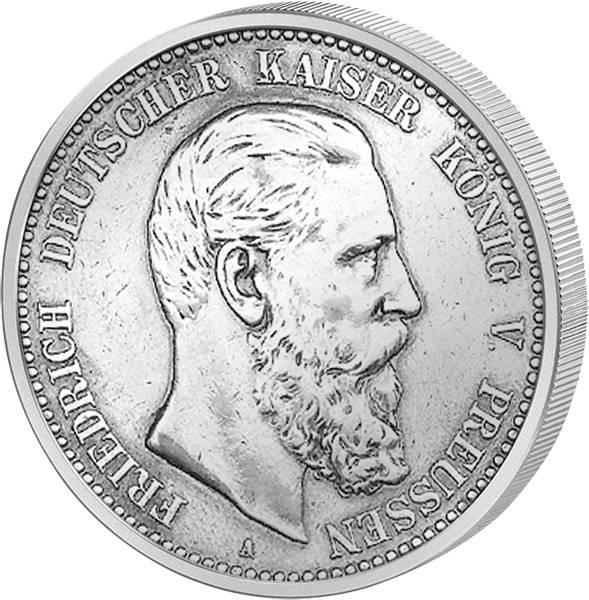 2 Mark Preußen Friedrich III. 1888 A Vorzüglich