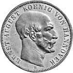 Silber-Taler König Ernst August 1848-49 ss-vz