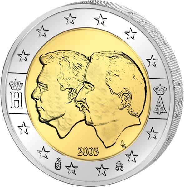 2 Euro Belgien und Luxemburg Wirtschaftsunion 2005 prägefrisch