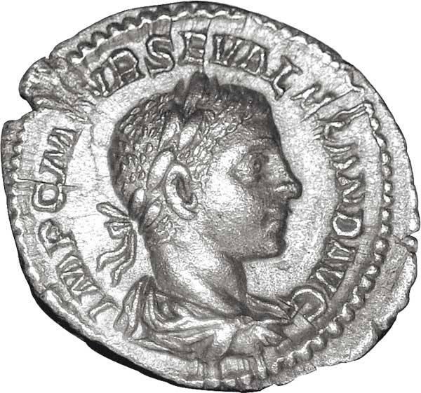 Denar Kaiser Severus Alexander 222-235 n.Chr. ss-vz