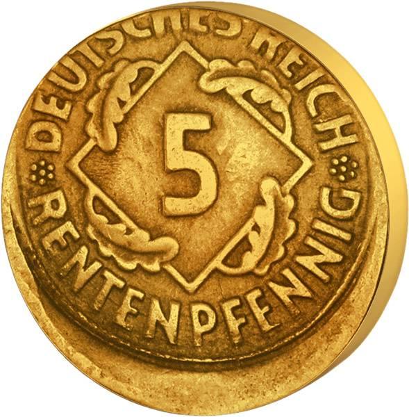 5 Pfennig 1923-1936 Reichs oder Rentenpfennig J.308 oder 316 1923-1936 ss-vz