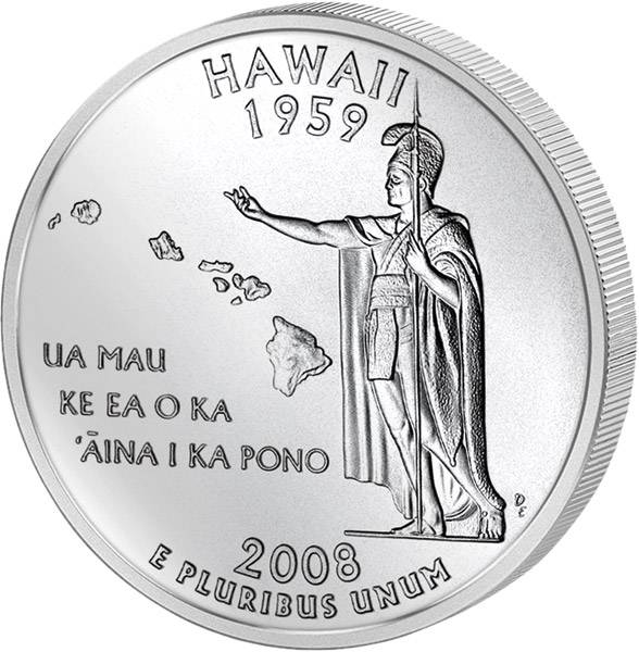 Quarter Dollar USA Hawaii 2008
