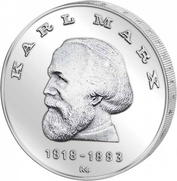 20 DDR Mark Silber Karl Marx 1968 stempelglanz