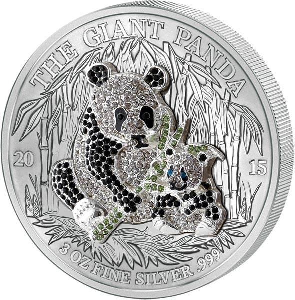 1.000 Francs Ruanda Pavé Giant Panda