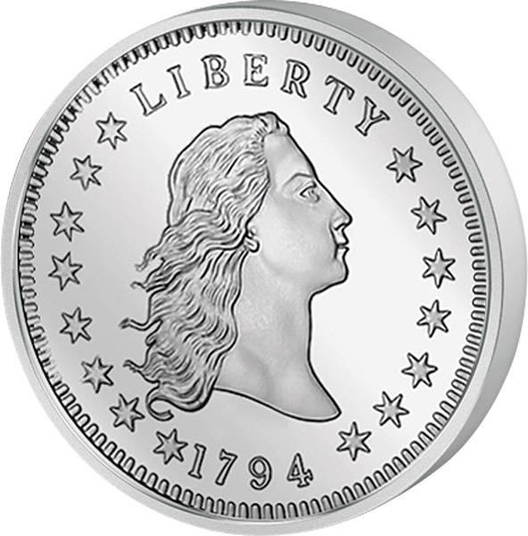 1 Dollar USA Flowing Hair Liberty 1794 Original-Replik 2015