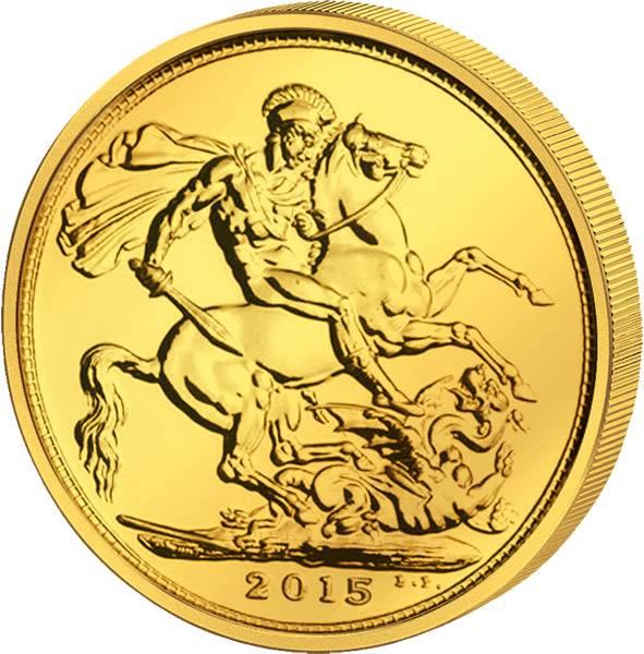 1 Sovereign Großbritannien Queen Elizabeth II. 2015 Stempelglanz