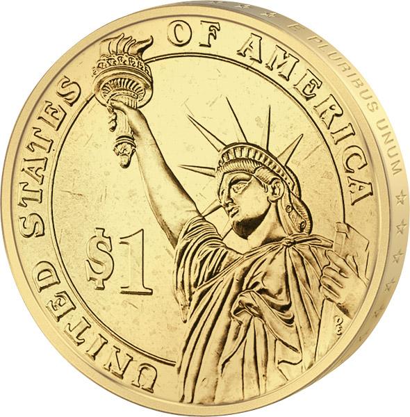 1 Dollar Usa Thomas Jefferson 2007 Prägefrisch Reppade